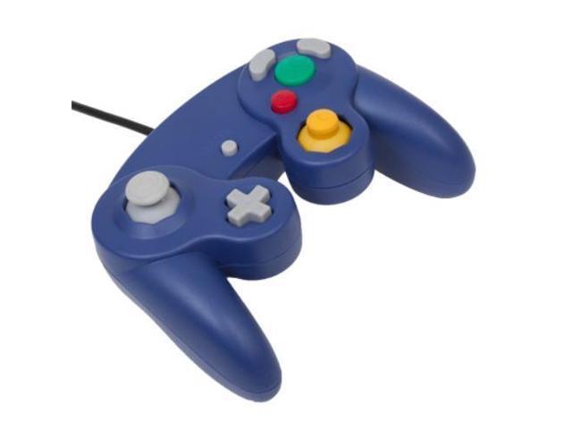 [Nintendo GameCube] Drátový ovladač - modrý
