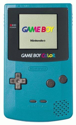 Nintendo GameBoy Color (modrozelená) - chybí kryt baterií