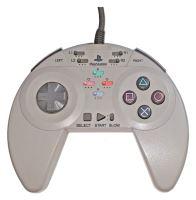 [PS1] Drátový Ovladač Asciiware Turbo - šedý