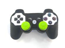 [PS3] Bezdrátový Ovladač Sony Dualshock - bílý (estetická vada) + pouzdro a čepičky