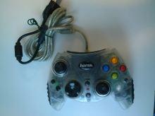 [Xbox Original] Drátový ovladač Hama Greenlight XB 200 - průhledný (estetická vada)
