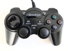 [PS2] Drátový Ovladač Brooklyn - černý