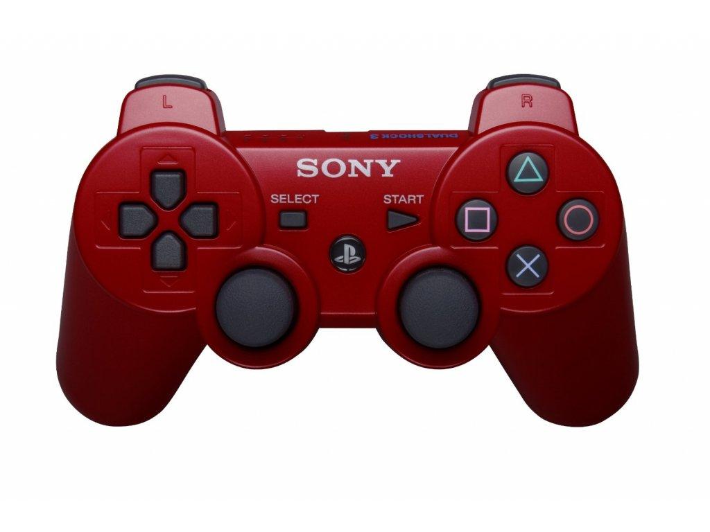 [PS3] Bezdrátový Ovladač Sony Dualshock - červený