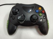 [Xbox Original] Drátový ovladač - černozelený (estetická vada)