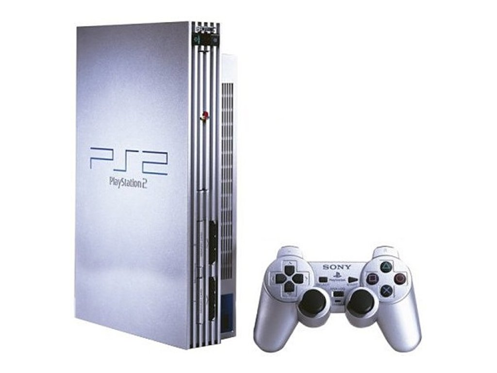 PlayStation 2 Fat Stříbrný