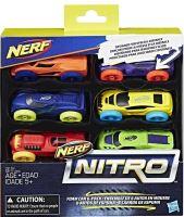 NERF - Nitro Foam Car 6 Pack - Hracie Autíčka (nová)