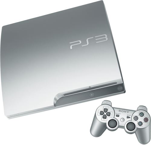 PlayStation 3 Slim 320 GB - stříbrná