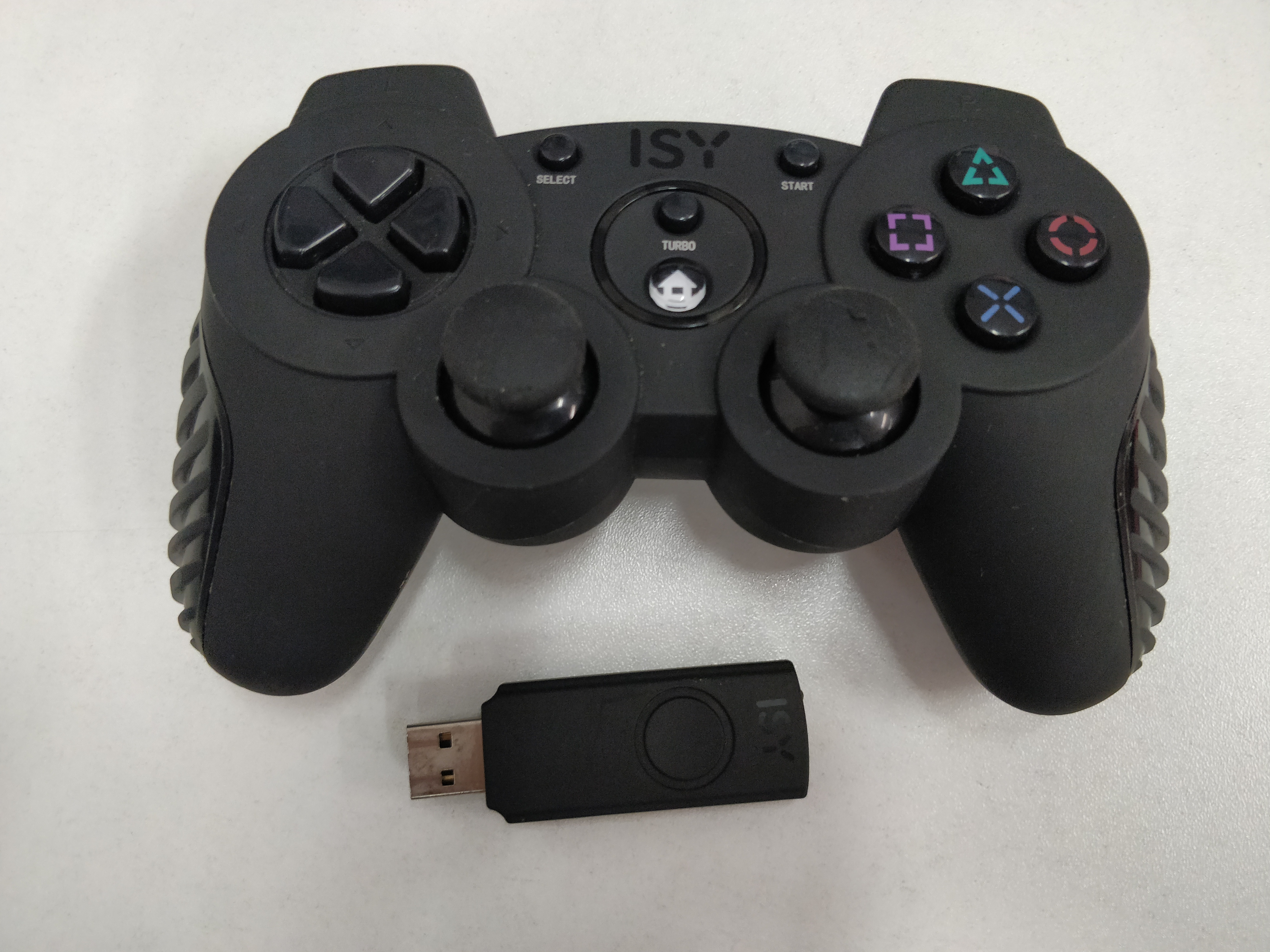 [PS3] Bezdrátový Ovladač ISY IC 4000 na USB přijímač - černý (estetická vada)