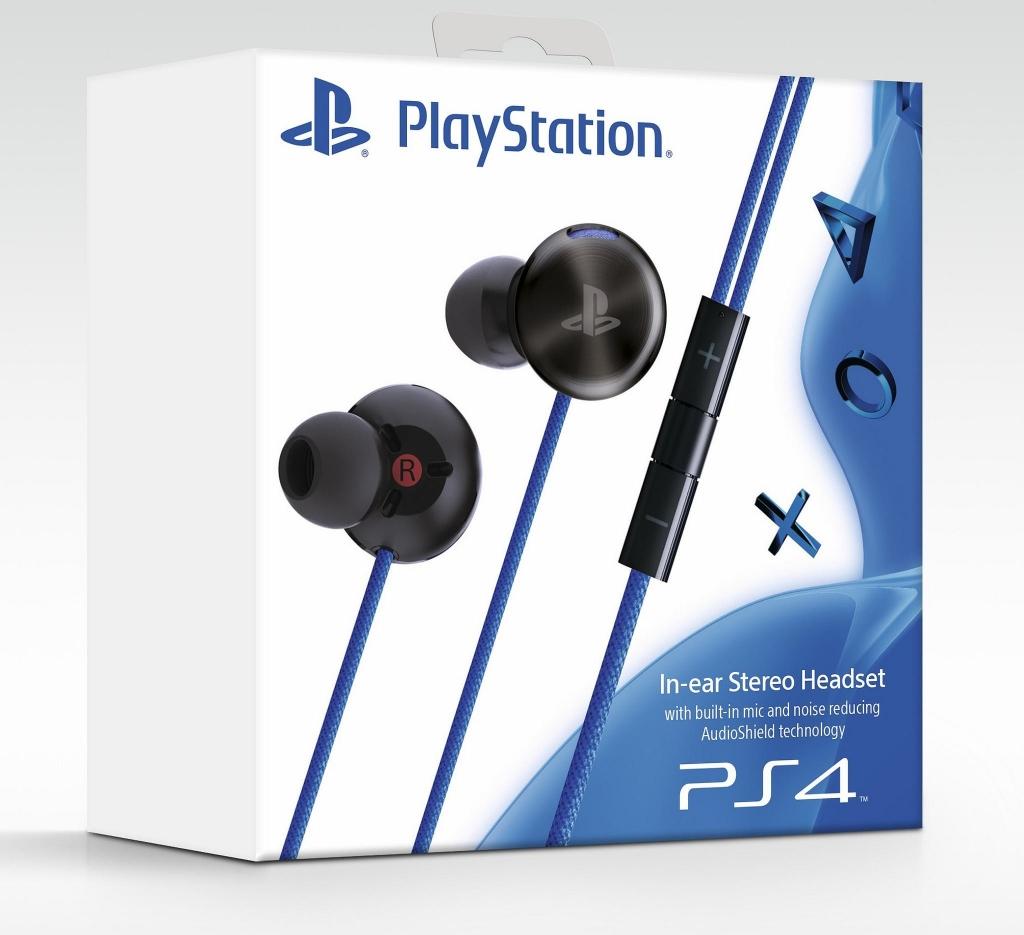 [PS4] Sony PlayStation In-ear Stereo Headset - černý (bez špuntů) (estetické vady)