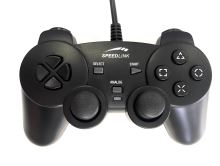 [PS2] Drátový Ovladač Speedlink Strike 2 - černý (estetická vada)