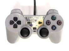 [PS1] Drátový Ovladač Sony Dualshock - šedý - Final Fantasy VIII (estetická vada)