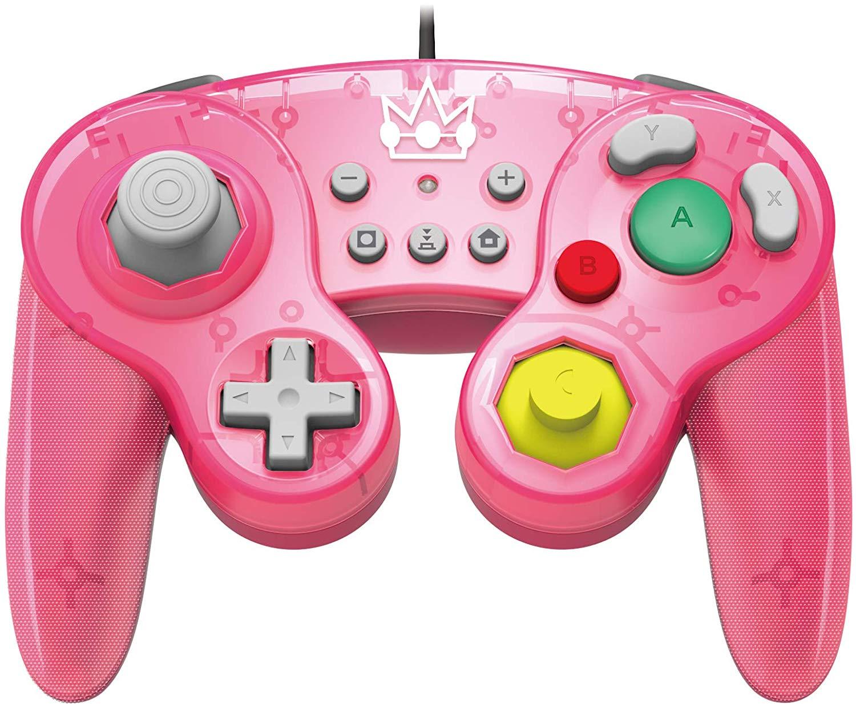 [Nintendo Switch] Drátový Ovladač Hori Super Smash Bros - Peach (nový)