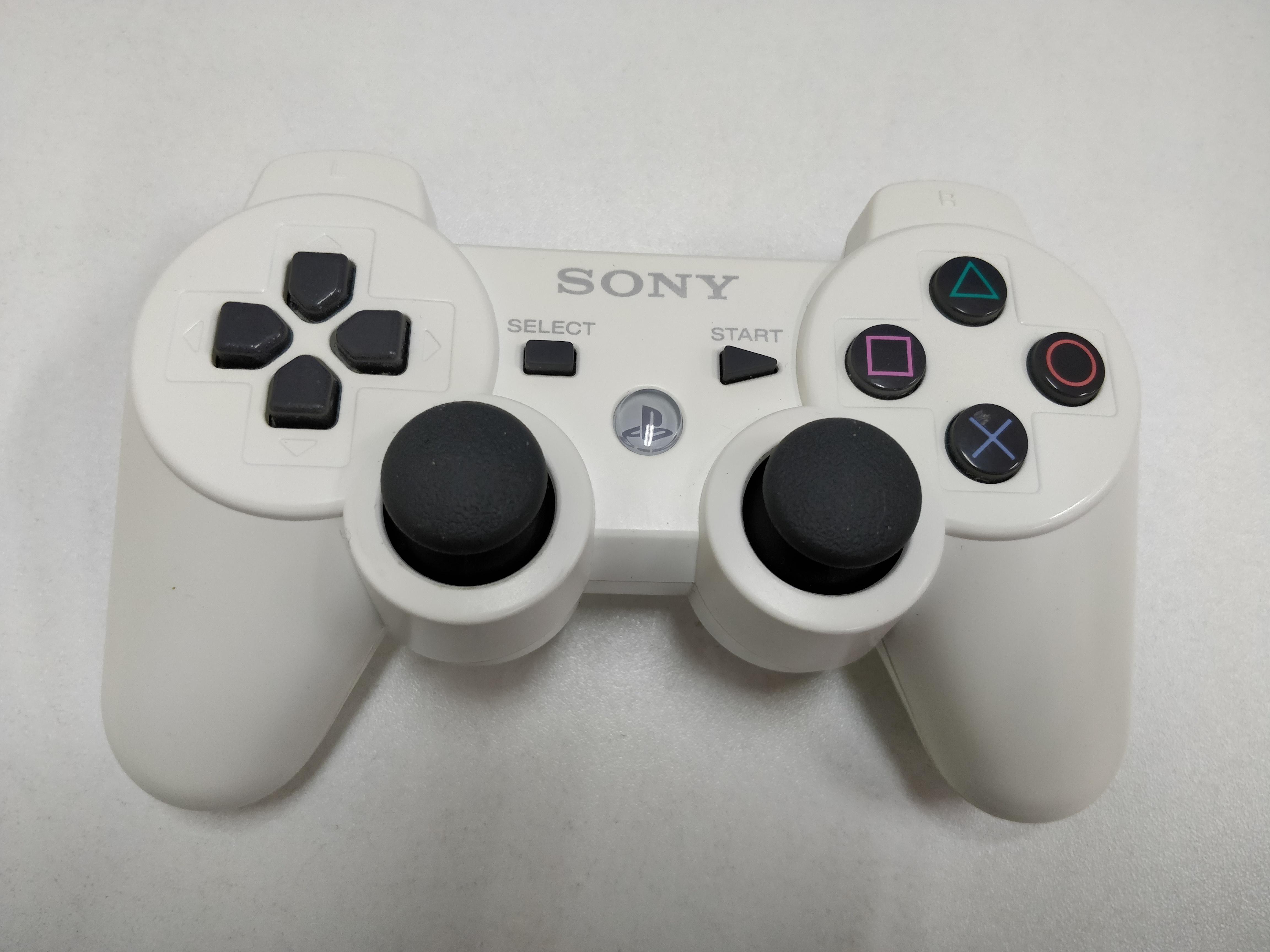 [PS3] Bezdrátový Ovladač Sony Dualshock - bílý (estetická vada, nažloutlý)