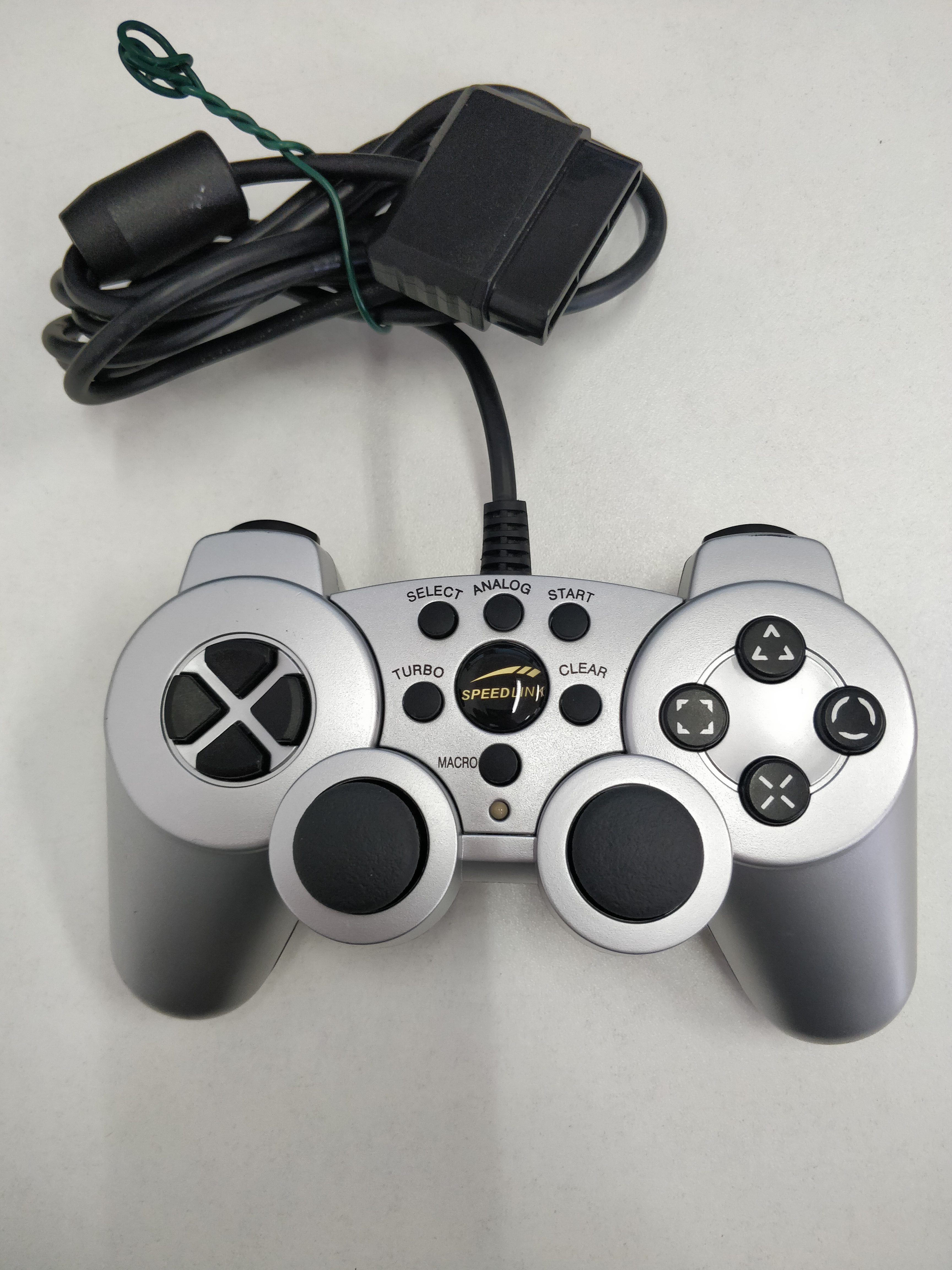 [PS2] Drátový Ovladač Speedlink Strike 2 - stříbrný (estetická vada)