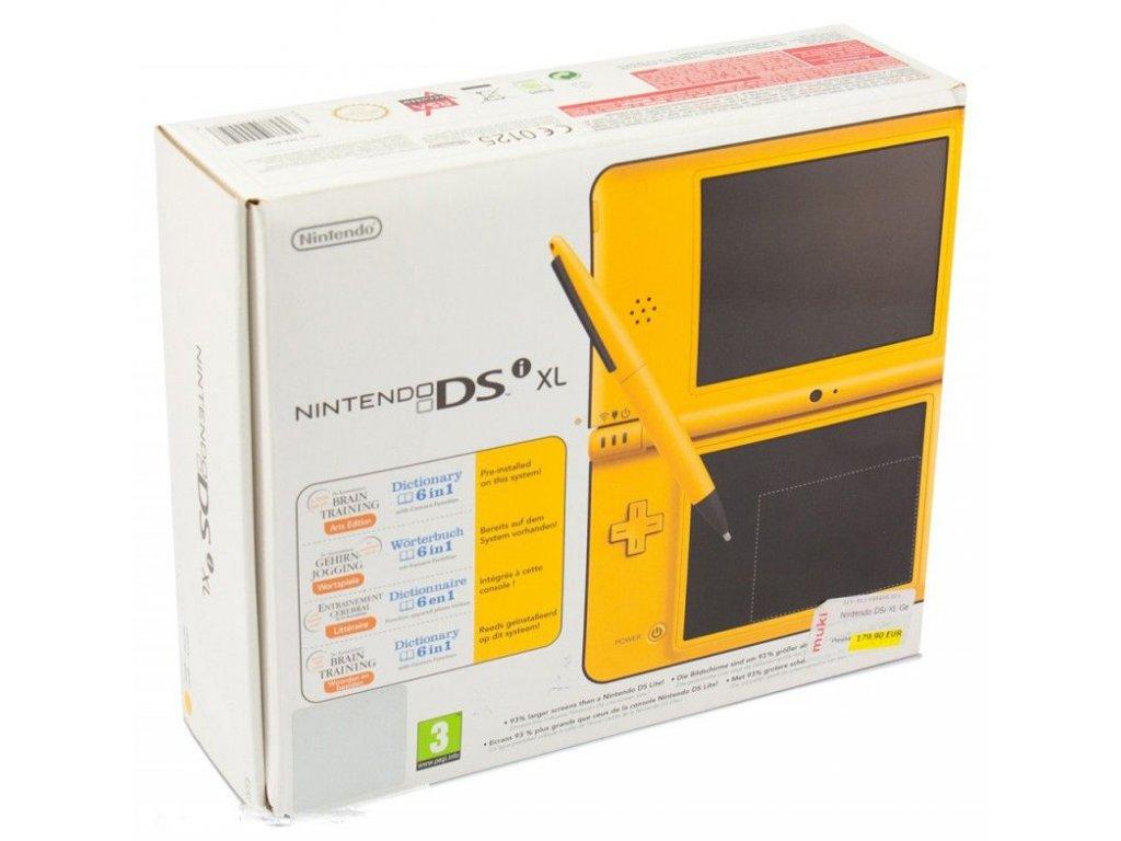 Nintendo DSi XL - Žluté + originální balení