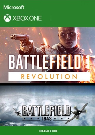Voucher Xbox One Battlefield 1 Revolution + Battlefield 1943