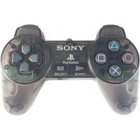 [PS1] Drátový Ovladač Sony Bez Páček - černý průhledný