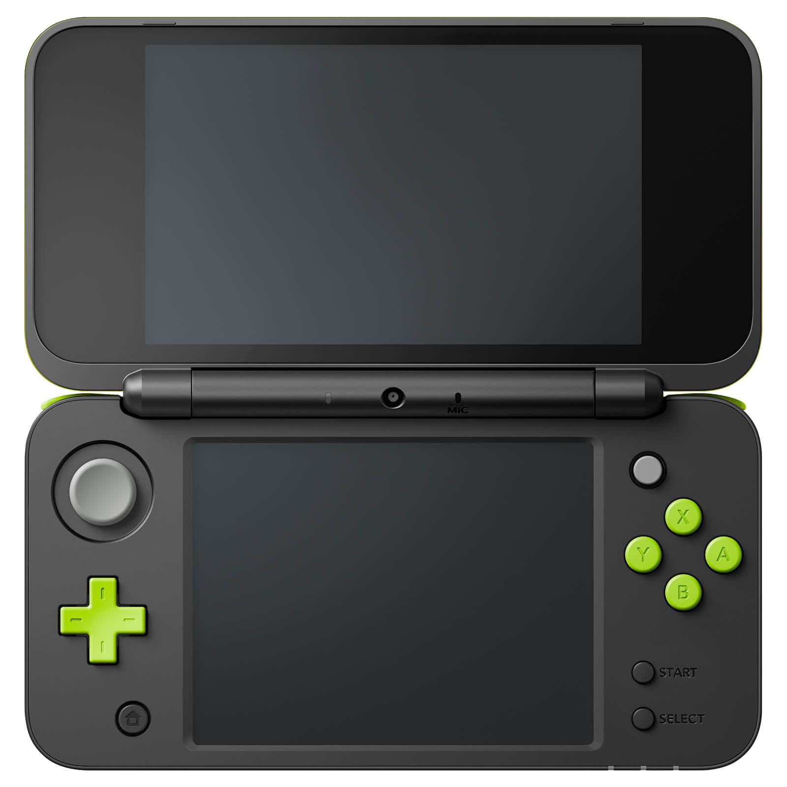 New Nintendo 2DS XL - zelenočerné (estetická vada) + originální balení