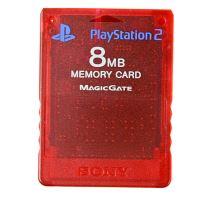 [PS2] Originální paměťová karta Sony 8MB (průhledná červená)