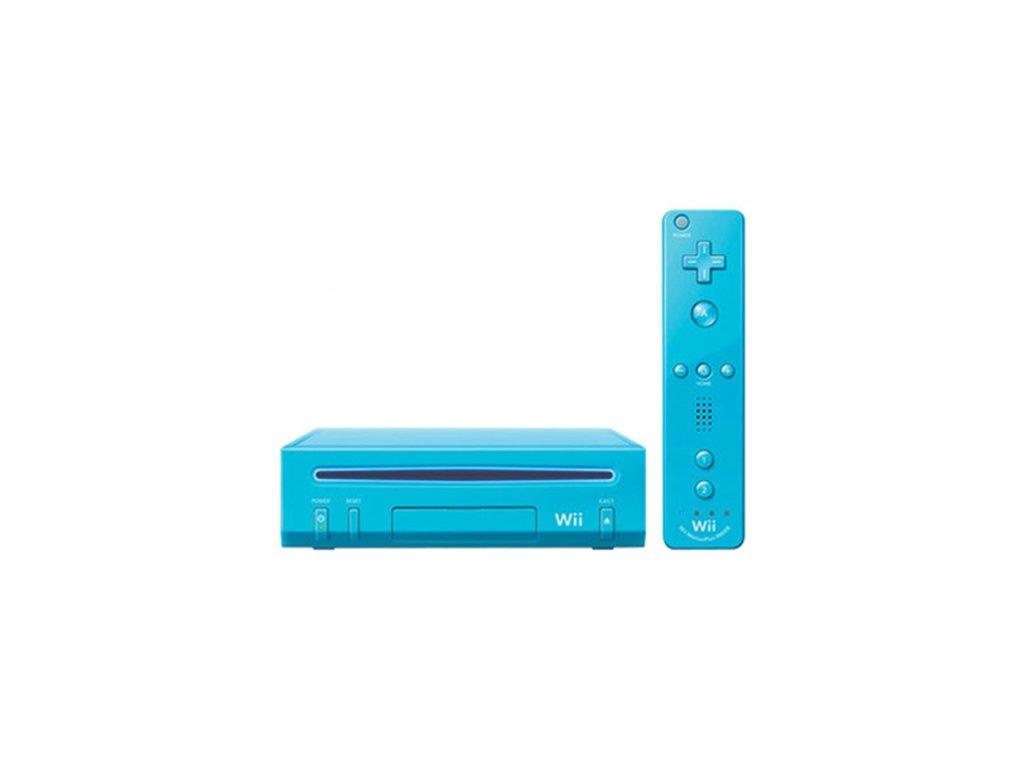 Nintendo Wii - herní konzole (limitovaná edice Blue)