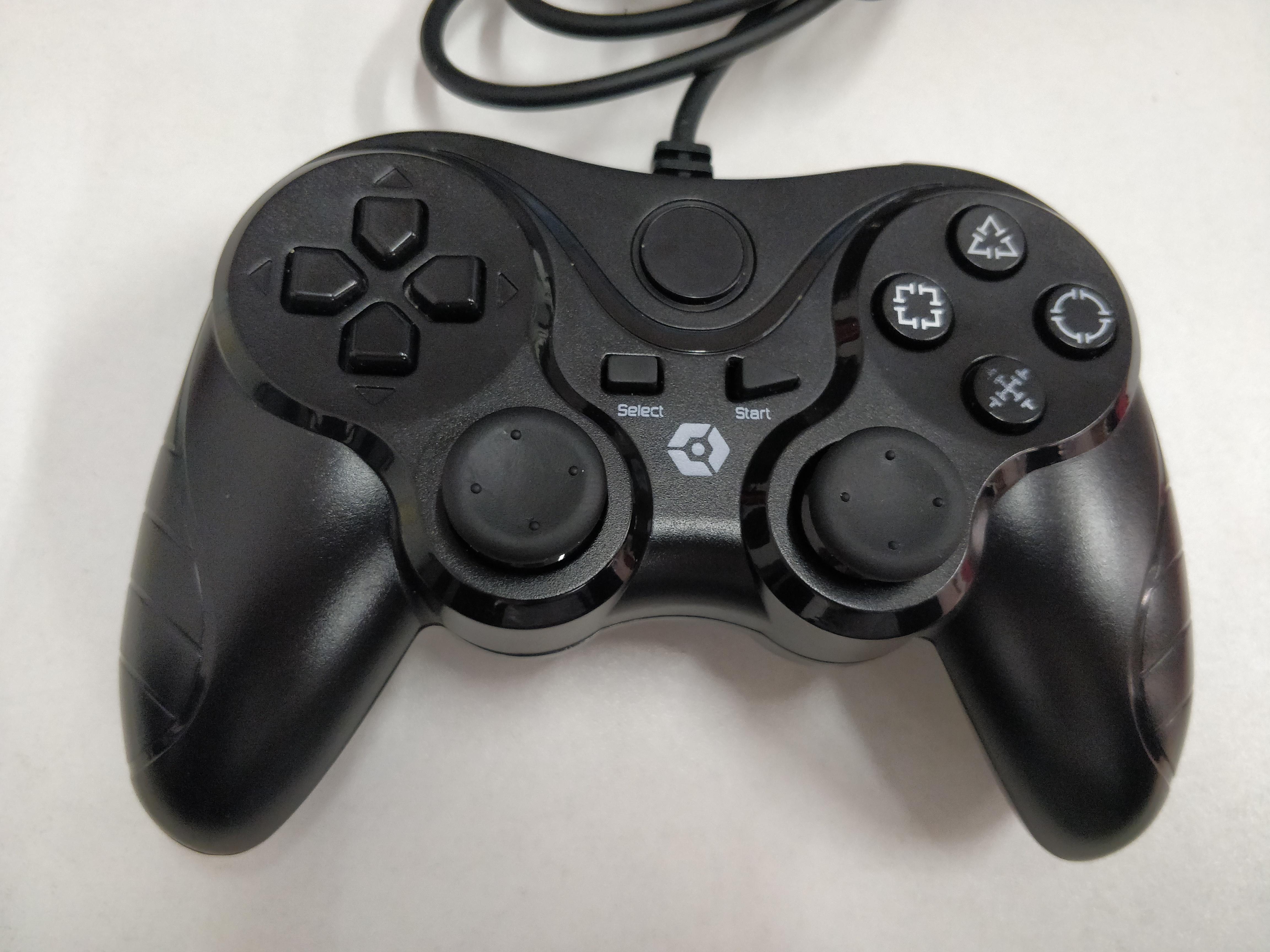 [PS3] Drátový Ovladač - černý (estetická vada)