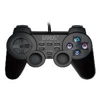 [PS2] Drátový Ovladač Eaxus Double Shock - černý
