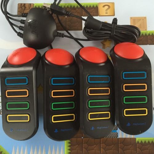 [PS2 | PS3] Ovládače Buzz Drôtové Pre kvízové Hry