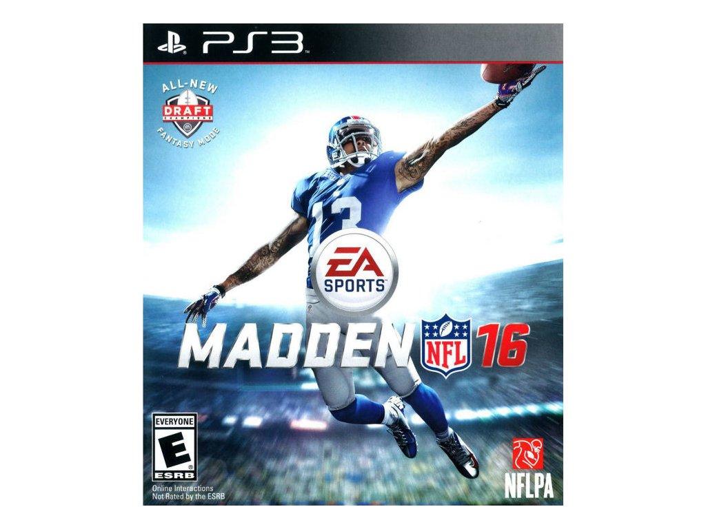 PS3 Madden NFL 16 2016