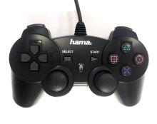 [PS3] Drátový Ovladač Hama Black Force - černý (estetická vada)