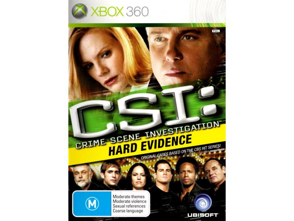 Xbox 360 CSI: Crime Scene Investigation - Hard Evidence
