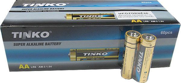 Tužkové AA Alkalické Baterie - 2ks