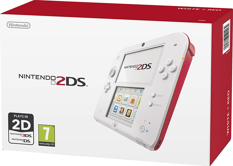 Nintendo 2DS červenobílé + originální balení