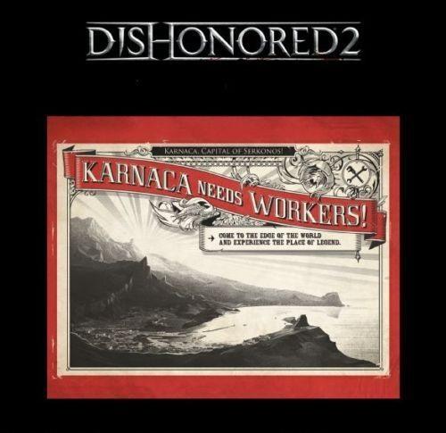 Vývěska - Metal Poster Dishonored 2 (estetická vada)