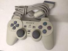 [PS1] Drátový Ovladač Sony Dualshock - bílý (nažloutlý)