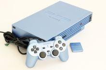 PlayStation 2 Fat Aqua Blue LIMITOVANÁ EDICE (estetická vada)
