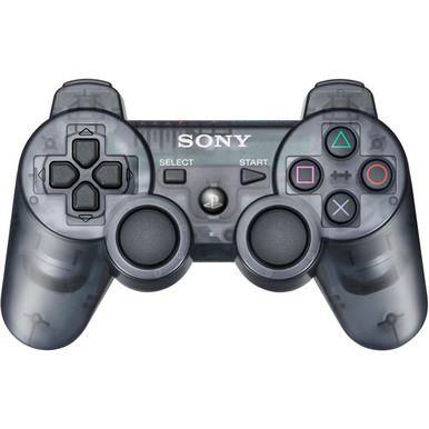 [PS3] Bezdrátový Ovladač Sony Dualshock - černý průhledný