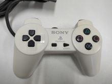 [PS1] Drátový Ovladač Sony Bez Páček - bílý (nažloutlý) (estetická vada)