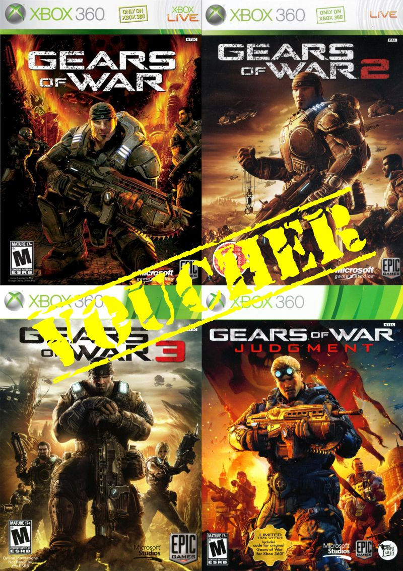 Voucher Xbox 360 Xbox One Gears Of War Collection