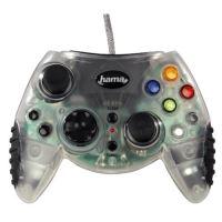 [Xbox Original] Drátový ovladač Hama Greenlight XB 200 - průhledný