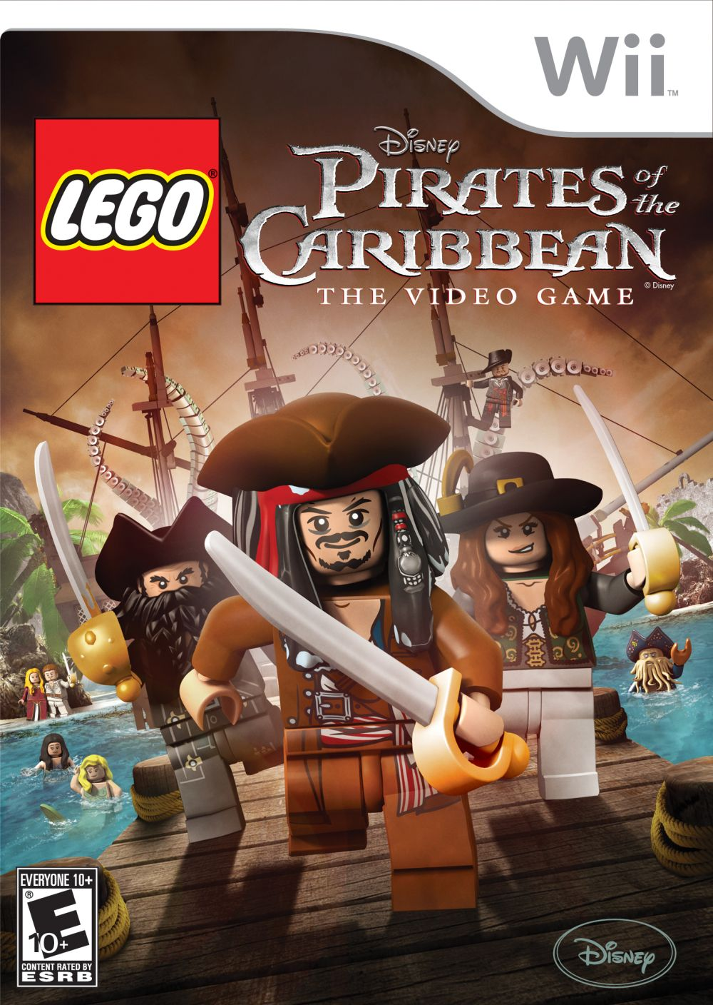 Nintendo Wii Lego Pirates Of The Caribbean
