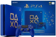 PlayStation 4 Slim 500 GB modrý - Days Of Play Limitovaná Edice (estetická vada)