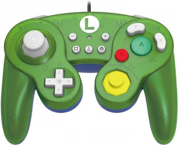 [Nintendo Switch] Drátový Ovladač Hori Super Smash Bros - Luigi (nový)