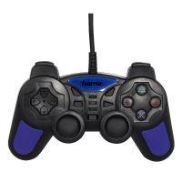 [PS2] Drátový Ovladač Hama Action Grip - černomodrý