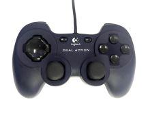 [PC] Drátový Ovladač Logitech Dual Action - modročerný (estetická vada)