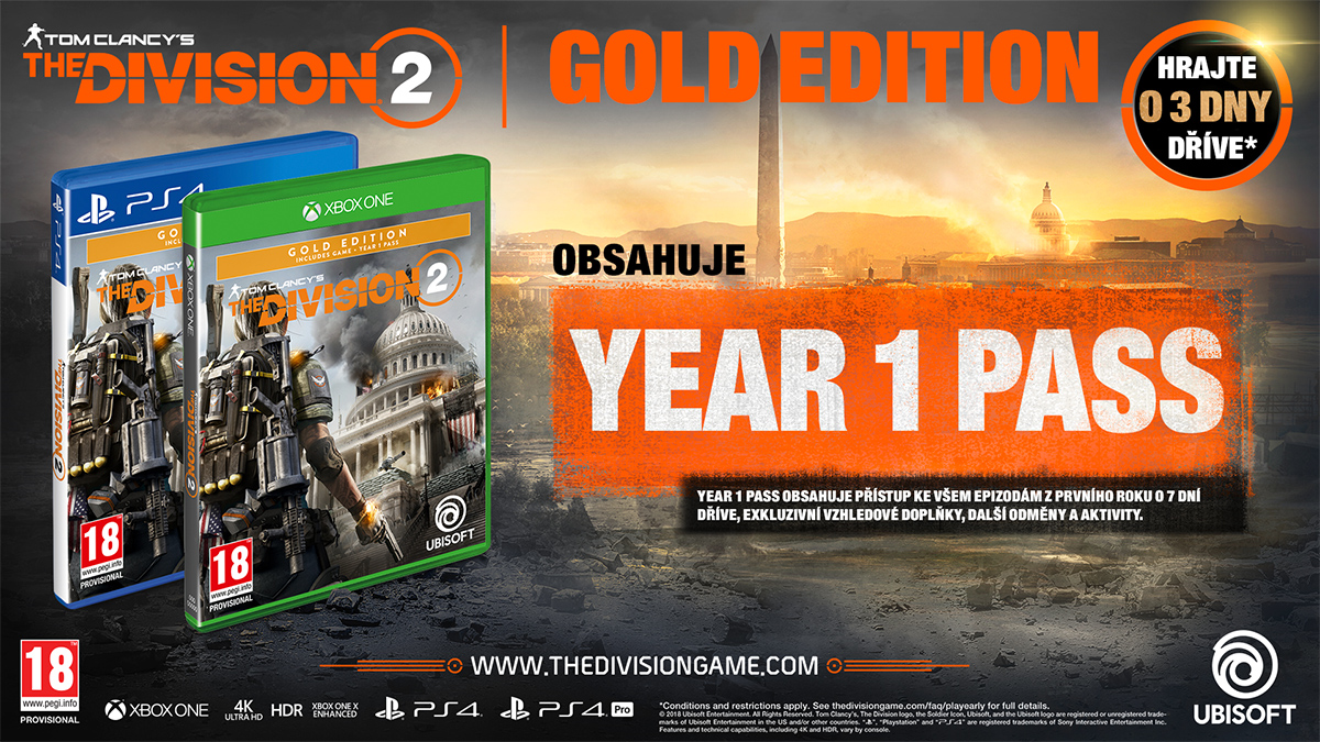 Xbox One Tom Clancys The Division 2 Gold Edition (nová) (CZ)