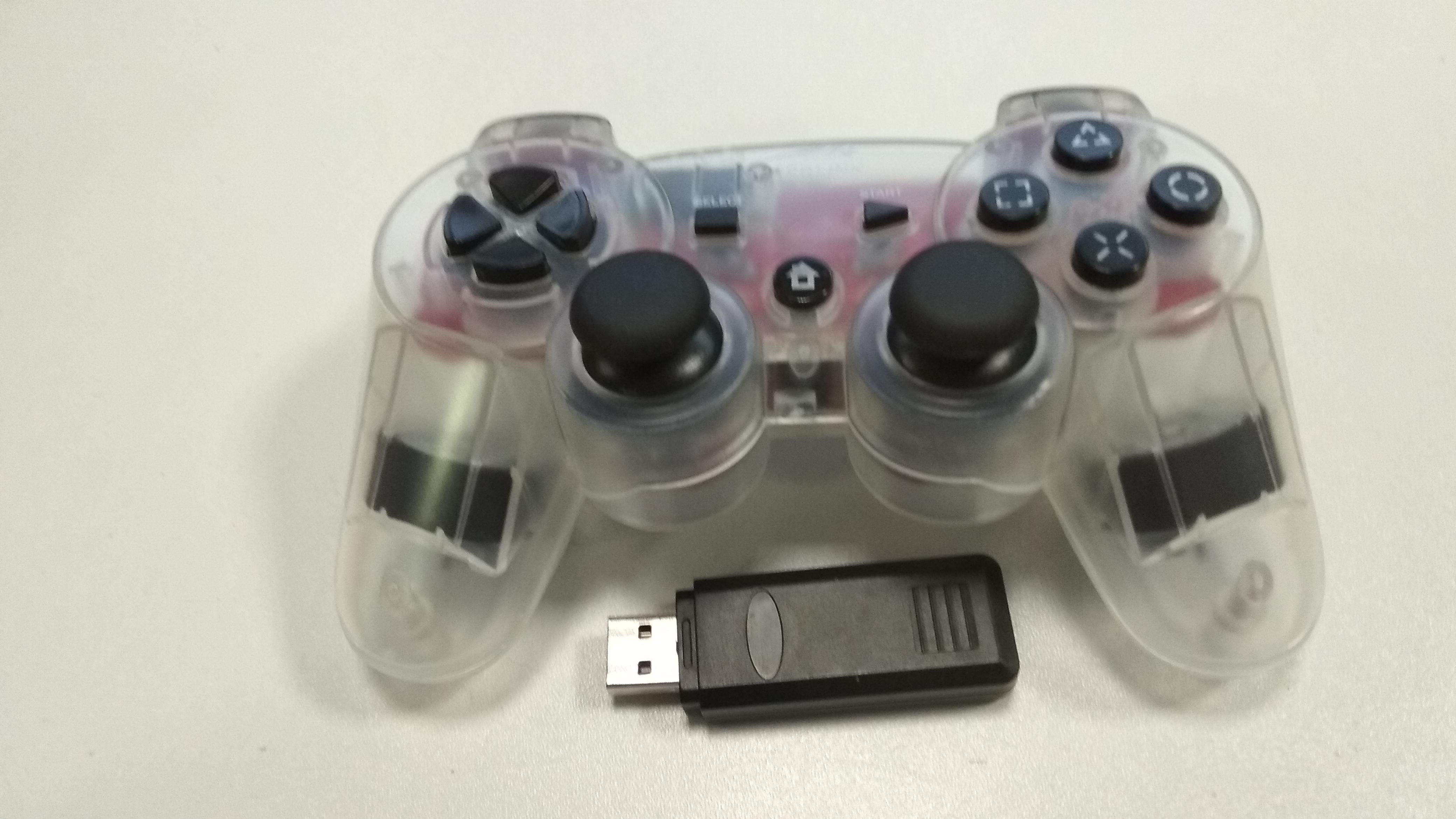 [PS3] Bezdrátový Ovladač Speedlink na USB přijímač - průhledný
