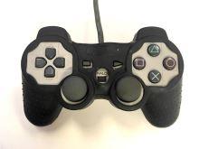 [PS1] Drátový Ovladač Sony Dualshock - šedý (estetická vada) + pouzdro