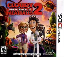 Nintendo 3DS Zataženo Občas Trakaře 2, Cloudy With A Chance Of Meatballs 2 (nová)