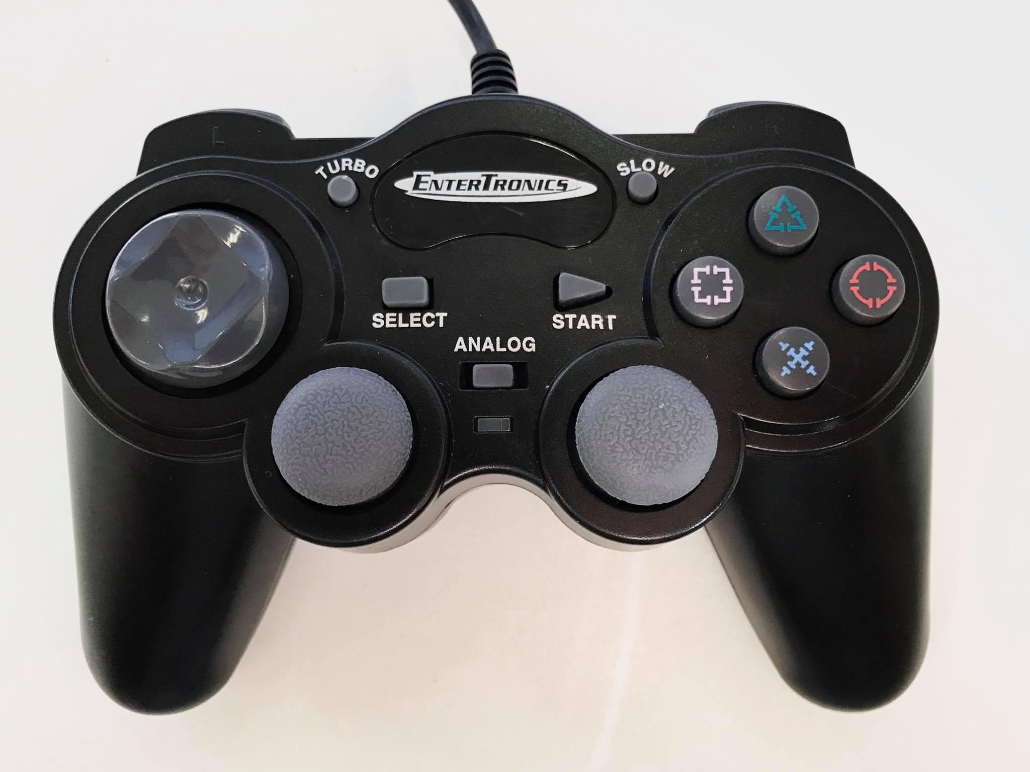 [PS2] Drátový Ovladač Entertronics - černý