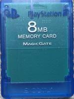 [PS2] Originální paměťová karta Sony 8MB (průhledná modrá)